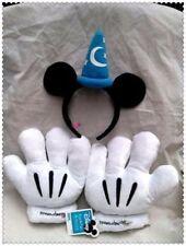Disney Mickey Fantasia Sorcerer Wizard Ears Headbands & Gloves Party Cosplay Set
