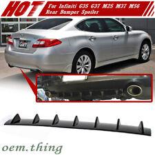 For INFINITI G35 M25 M37 Sedan Rear Bumper Lip Diffuser 7 Fin Unpainted ABS