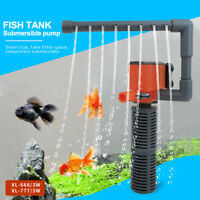Mini 3 in 1 Aquarium Filter Submersible Internal Fish Tank Water Pump Band