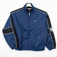 Nike Vintage White Tag Full Zip Lightweight Windbreaker Embroidered Swoosh Check