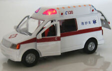 1/32 scale White Ambulance Model Alloy Diecast Vehicle Toy With Back Power