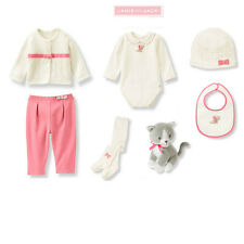 "Janie and Jack baby girl ""All in Bow""Overall/Sweater/Hat/Tight/ 7 pc Set 6-12m"