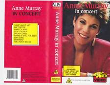 ANNE MURRAY IN CONCERT  VHS PAL VIDEO A RARE FIND