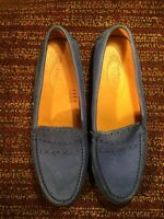 TODS TOD's  Blue Driving Shoes Sz. 37.5 EUC US 7