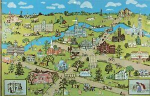 Postcard Map Houston Texas