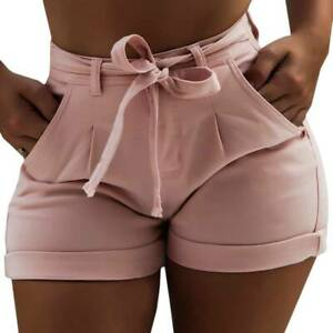 Summer Women High Waist Ripped Stretchy Shorts Jeans Casual Distressed Hot Pants