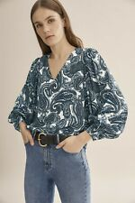 Country Road Winter Paisley Popover - Ink