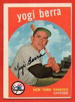 1959 Topps #180 Yogi Berra VG-VGEX WRINKLE New York Yankees HOF FREE SHIPPING