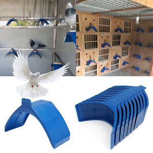 20X Perches V Pigeon Bird Dove Pet Rest Stand Roost Frame Dwelling Kit Blue