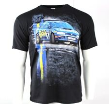 *NEW* Great Rally Cars T-Shirt Subaru Impreza 555 BLACK/BLUE - Size XL / X-LARGE