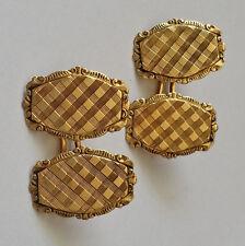 Wonderful Antique Art Deco 18K Gold Engraved Cufflinks