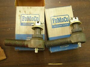 NOS OEM Ford 1961 - 1964 Econoline Van Pickup Outer Tie Rod Ends 1962 1963 E100