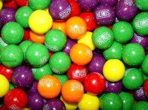 """3lb NERDS GUMBALLS 1"""" candy filled BUBBLEGUM Fruit vending OAK LEAF bubble gum"""