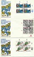 UNITED NATIONS 1980 ECONOMIC AND SOCIAL COUNCIL 3 FIRST DAY COVERS GENEVA SHS