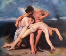 Hand Painted Oil Painting Repro Bouguereau First Mourning, 1888 20x24in