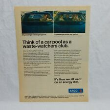 ARCO GASOLINE VINTAGE ADVERTISING MAGAZINE PAGE, MAY 19, 1980