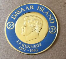 Davaar Island 1963 Foil Coin Stamp - J.F. Kennedy Stamp - Gorgeous Stamp