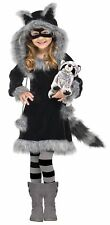 Fun World Costumes Baby Girl's Sweet Raccoon Toddler Costume, Large(4-6)