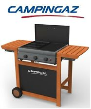 BARBECUE A GAS GPL ADELAIDE WOODY 3 CON BRUCIATORI GHISA - MARCA CAMPINGAZ