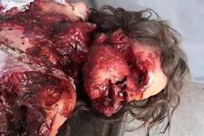 Crushed Female Body - Haunted House Halloween Horror Prop - The Walking Dead