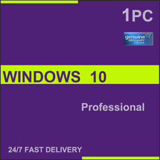 Ms Windows 10 Pro Professional 32/64bit Genuine License Key Instant