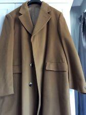 Mens Debenhams long coat 100%cashmere  high quality camel brown Size XL