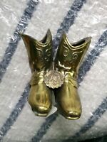 ST. LOUIS CATHEDRAL COWBOY BOOTS GOLD BRONZE MINI FIGURINE NEW ORLEANS