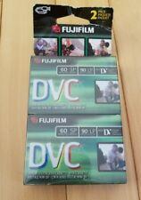 2-Pack Fujifilm Dvm60 Dv Digital VideoCassette Dvc60 Tape Blank Fuji New Sealed