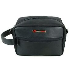 Alpine Swiss Hudson Travel Toiletry Bag Shaving Dopp Kit Black 817137063699