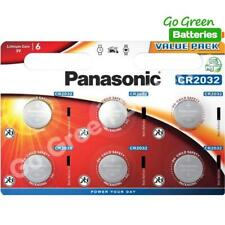 6 x Panasonic CR2032 3V Lithium Coin Cell Battery 2032