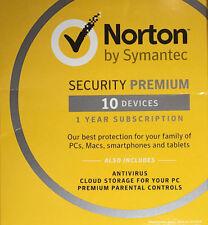 Norton Security Premium 2018 for 10 Devices (sealed)