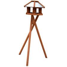 100cm Vogelhausständer dunkelbraun Dreibeinständer Futterhaus Vogelhäuschen Holz