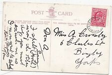 * 1906 RARE St PANCRAS & DERBY S T RAILWAY POSTMARK ON GLITTER CARD 1d RATE