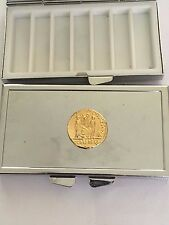 Aureus Of Augustus Coin WC79 Gold Pewter On Mirrored 7 Day Pill box Compact