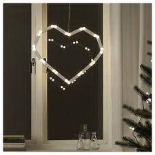 Ikea Strala Xmas White Heart LED alternative hanging light decoration 603.714.46