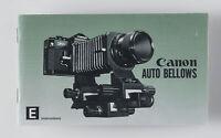 instructions Bedienungsanleitung Anleitung Canon Auto Bellows English Edition