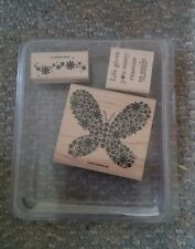 Vintage 2006 Stampin Up Reason to Smile 3 Stamp Set in Plastic Case