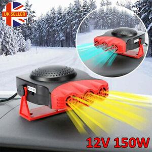 UK 2 in 1 Car Heater Ceramic 12 Volt Cooling Fan 150 Watt Van Summer Winter HOT