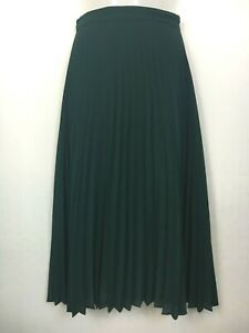 Princess Highway 8 skirt midi pleated forest green party races rock chick xmas ^