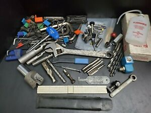 Machinist Tool Lot TECO Craftsman End Mill Tap Wrench Indexable Holder Vintage