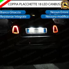 PLACCHETTE A LED LUCI TARGA 18 LED PER ABARTH 500 500c 595 RESTYLING 6000K