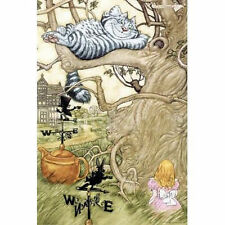 ALICE IN WONDERLAND - CHESHIRE CAT ART POSTER - 24x36 SHRINK WRAPPED - 4870