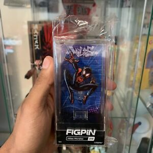 Miles Morales FiGPiN #318 Spider-man Into The Spider-verse Locked Hard Case Pin