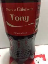 Share A Coke With Tony Personalized Name Coca Cola Collectible Bottle.