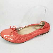 LK Bennett London Pink Patent Leather Quilted Ballet Flats Size EU 39 US 8