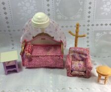 Fisher Price Loving Family Doll House Pink Bedroom Set Bed/Chair Girls Room Xtra