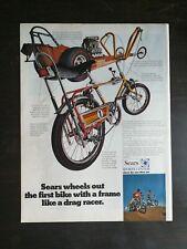 Vintage 1969 Sears Screamer Drag Racer Bike Bicycle Full Page Original Color Ad