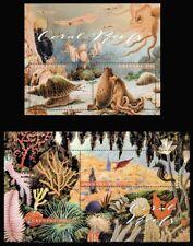 2017 Grenada, marine fauna, coral, shells, S/sheet + sheet, MNH