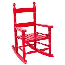 Patio Rocker Children Kids Rocking Chair Wood Porch Child Indoor Outdoor Red New