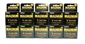 30 -MAGNUM THIN Trojan LARGE Lubricated Premium Latex Condoms Lube Thinner Bare